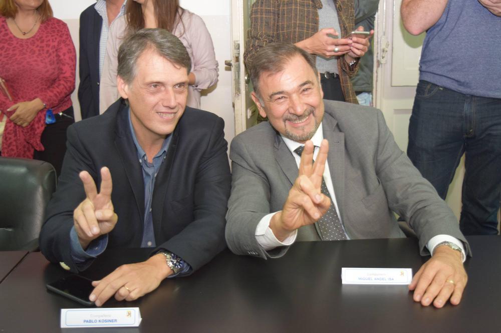 Kosiner y Miguel Isa - y la V peronista
