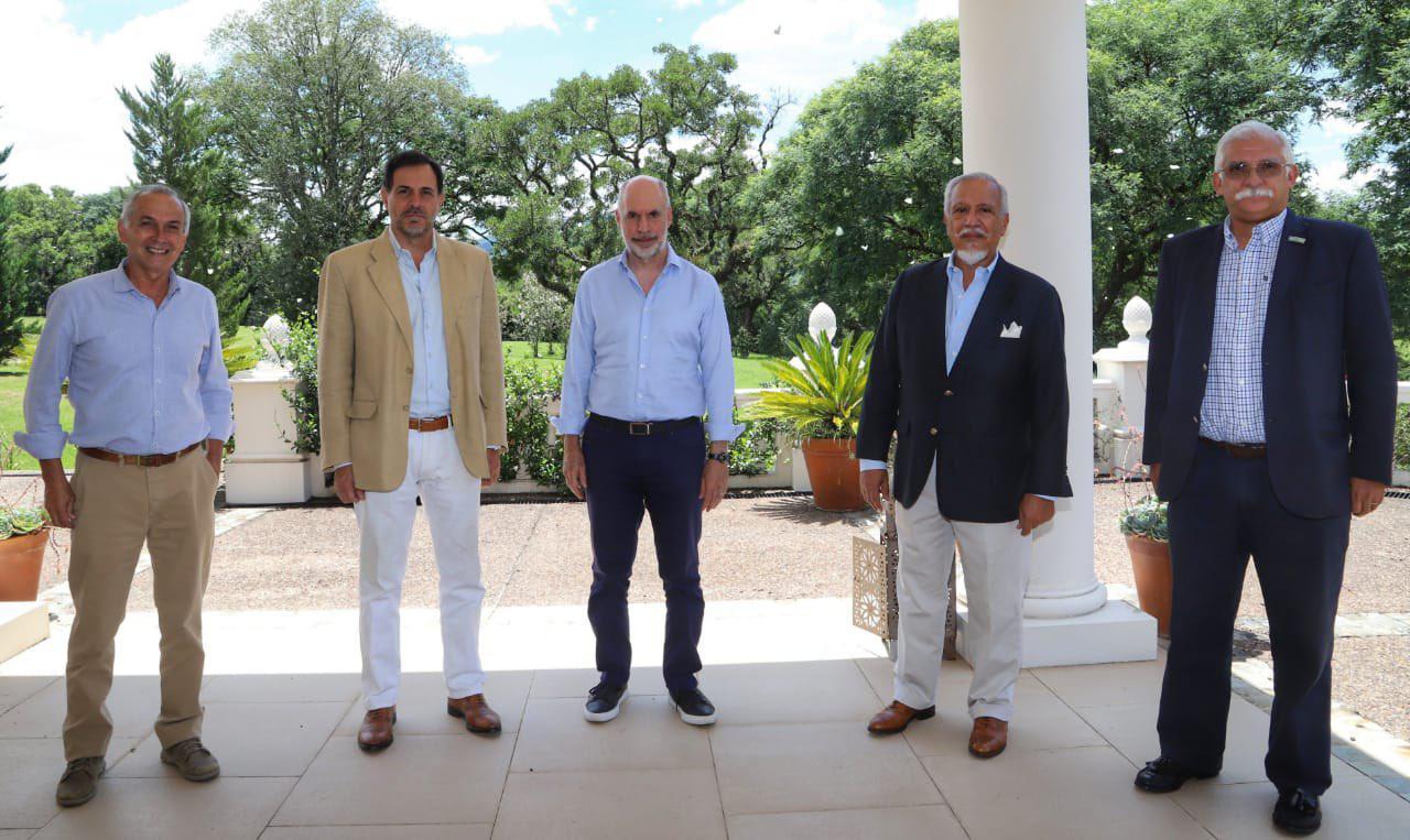 José Gauffin -Gustavo André - Larreta con Romero y Carlos Cali Zapata