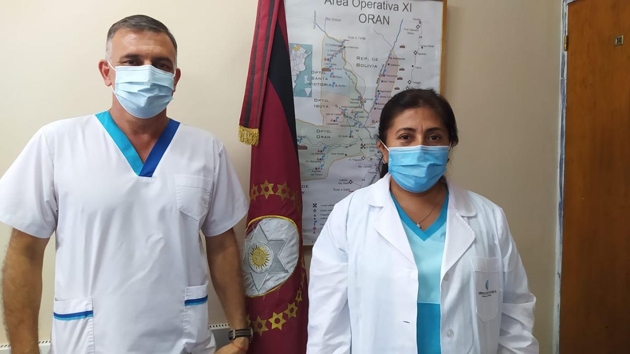 ORAN - pediatra Gladys Laime gte gral- y Odont Víctor Dip subgte