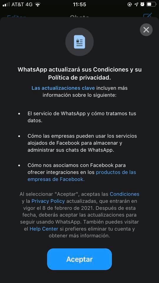 whatsapp_ CAMBIA SISTEMA DE SEGURIDAD