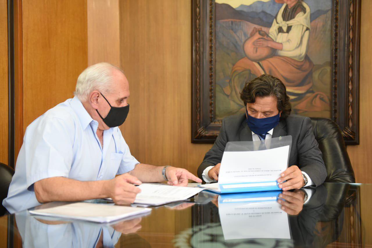 García Salado con el gobernador Sáenz