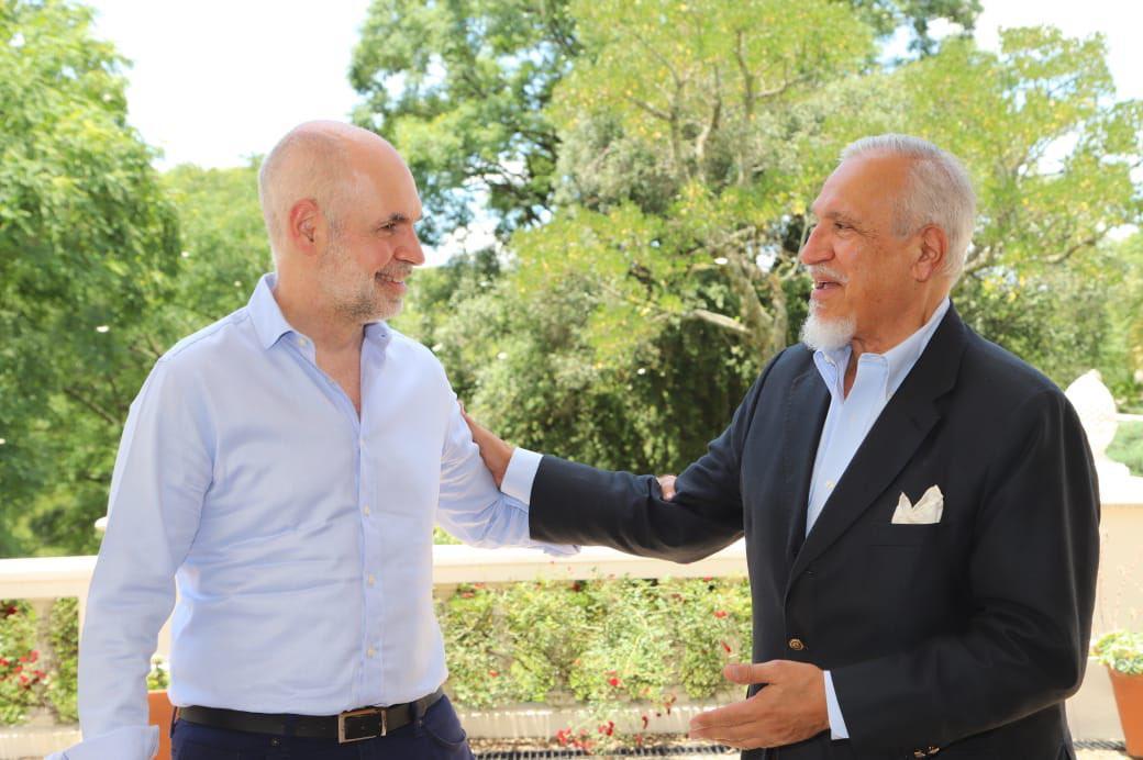 Romero con Rodríguez Larreta