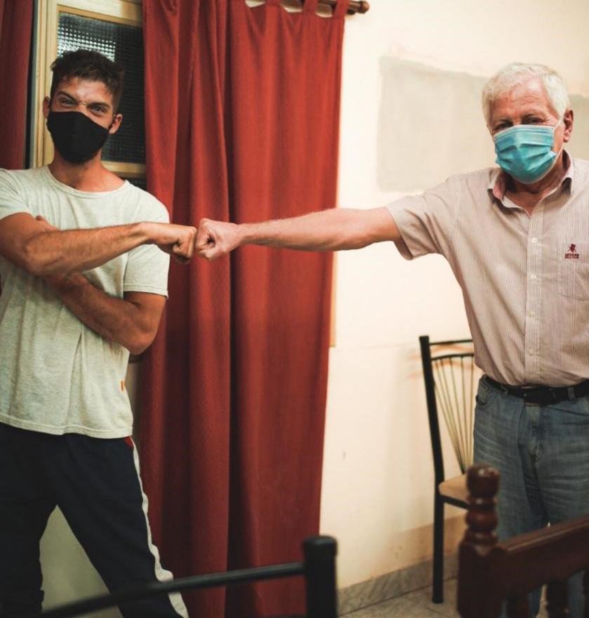 EMBARCACIÓN Santi Maratea con el intendente
