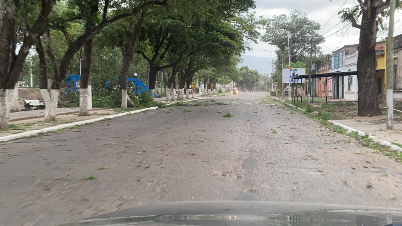 Tartagal las calles vacías por miedo al temporal