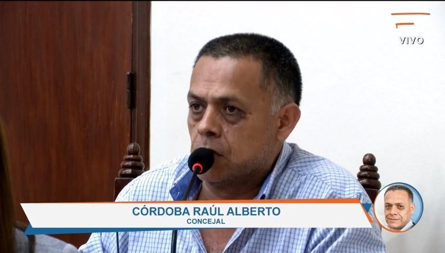 Concejal Raúl Córdoba